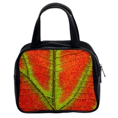 Nature Leaves Classic Handbags (2 Sides) by BangZart