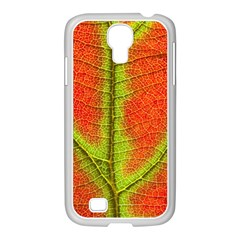 Nature Leaves Samsung Galaxy S4 I9500/ I9505 Case (white) by BangZart