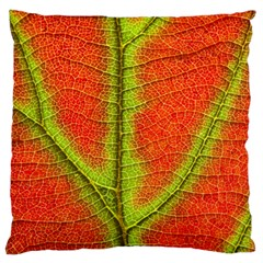 Nature Leaves Large Flano Cushion Case (two Sides)