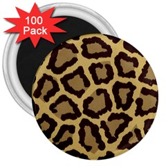 Leopard 3  Magnets (100 Pack) by BangZart