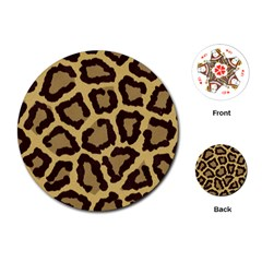 Leopard Playing Cards (round)  by BangZart