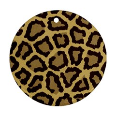 Leopard Round Ornament (two Sides)