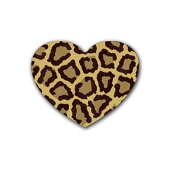 Leopard Rubber Coaster (heart)  by BangZart