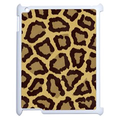 Leopard Apple Ipad 2 Case (white) by BangZart
