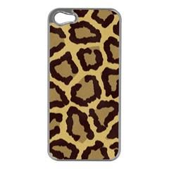 Leopard Apple Iphone 5 Case (silver)