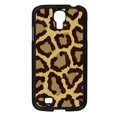 Leopard Samsung Galaxy S4 I9500/ I9505 Case (black) by BangZart