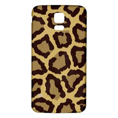 Leopard Samsung Galaxy S5 Back Case (white) by BangZart