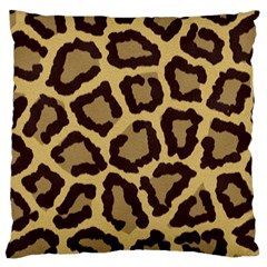Leopard Standard Flano Cushion Case (two Sides) by BangZart