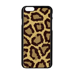 Leopard Apple Iphone 6/6s Black Enamel Case