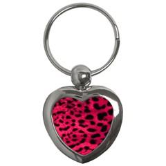 Leopard Skin Key Chains (heart)