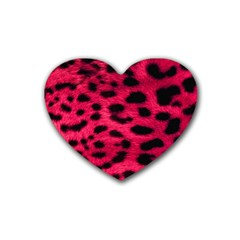 Leopard Skin Heart Coaster (4 Pack)