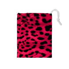 Leopard Skin Drawstring Pouches (medium)  by BangZart