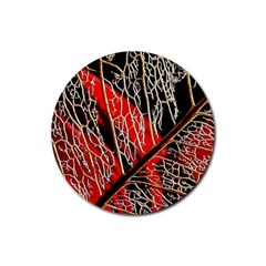 Leaf Pattern Rubber Round Coaster (4 Pack)