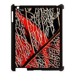 Leaf Pattern Apple Ipad 3/4 Case (black)