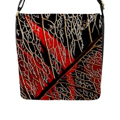 Leaf Pattern Flap Messenger Bag (l)  by BangZart