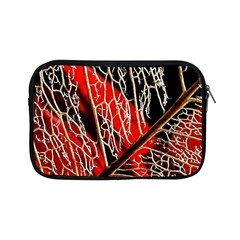 Leaf Pattern Apple Ipad Mini Zipper Cases by BangZart