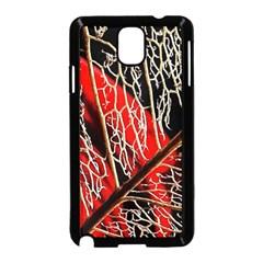 Leaf Pattern Samsung Galaxy Note 3 Neo Hardshell Case (black)