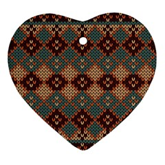 Knitted Pattern Ornament (heart)