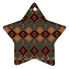 Knitted Pattern Ornament (star)