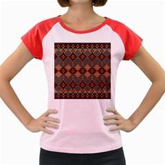 Knitted Pattern Women s Cap Sleeve T Shirt
