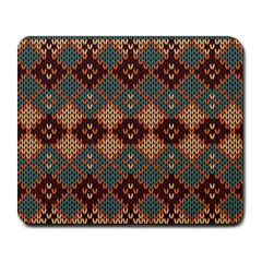 Knitted Pattern Large Mousepads by BangZart