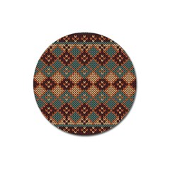 Knitted Pattern Magnet 3  (round) by BangZart
