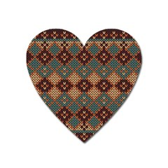 Knitted Pattern Heart Magnet by BangZart