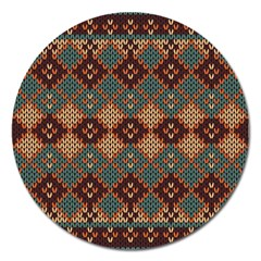 Knitted Pattern Magnet 5  (round) by BangZart