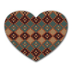 Knitted Pattern Heart Mousepads by BangZart