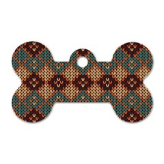 Knitted Pattern Dog Tag Bone (two Sides) by BangZart