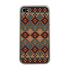 Knitted Pattern Apple Iphone 4 Case (clear)