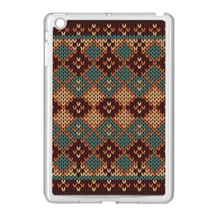 Knitted Pattern Apple Ipad Mini Case (white)