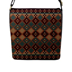 Knitted Pattern Flap Messenger Bag (l)  by BangZart
