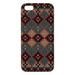 Knitted Pattern Iphone 5s/ Se Premium Hardshell Case by BangZart