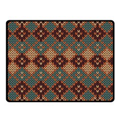 Knitted Pattern Double Sided Fleece Blanket (small)  by BangZart