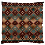 Knitted Pattern Large Flano Cushion Case (Two Sides) Back