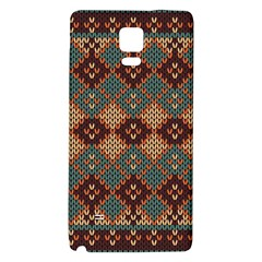Knitted Pattern Galaxy Note 4 Back Case by BangZart
