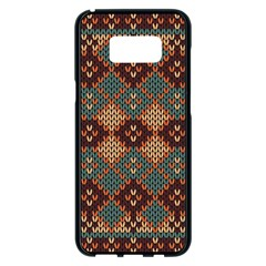 Knitted Pattern Samsung Galaxy S8 Plus Black Seamless Case