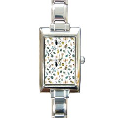 Insect Animal Pattern Rectangle Italian Charm Watch by BangZart