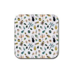 Insect Animal Pattern Rubber Square Coaster (4 Pack)  by BangZart