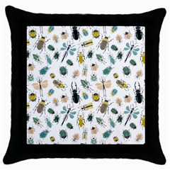 Insect Animal Pattern Throw Pillow Case (black) by BangZart