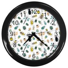 Insect Animal Pattern Wall Clocks (black)