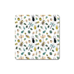 Insect Animal Pattern Square Magnet