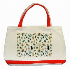 Insect Animal Pattern Classic Tote Bag (red)
