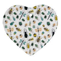 Insect Animal Pattern Heart Ornament (two Sides) by BangZart
