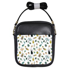 Insect Animal Pattern Girls Sling Bags by BangZart