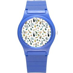 Insect Animal Pattern Round Plastic Sport Watch (s) by BangZart