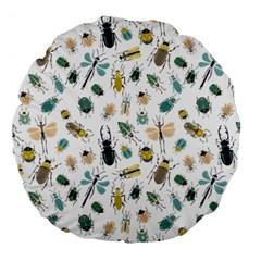 Insect Animal Pattern Large 18  Premium Round Cushions