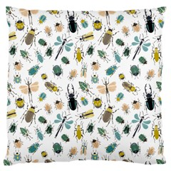 Insect Animal Pattern Large Flano Cushion Case (two Sides) by BangZart