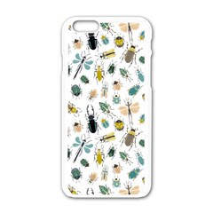 Insect Animal Pattern Apple Iphone 6/6s White Enamel Case
